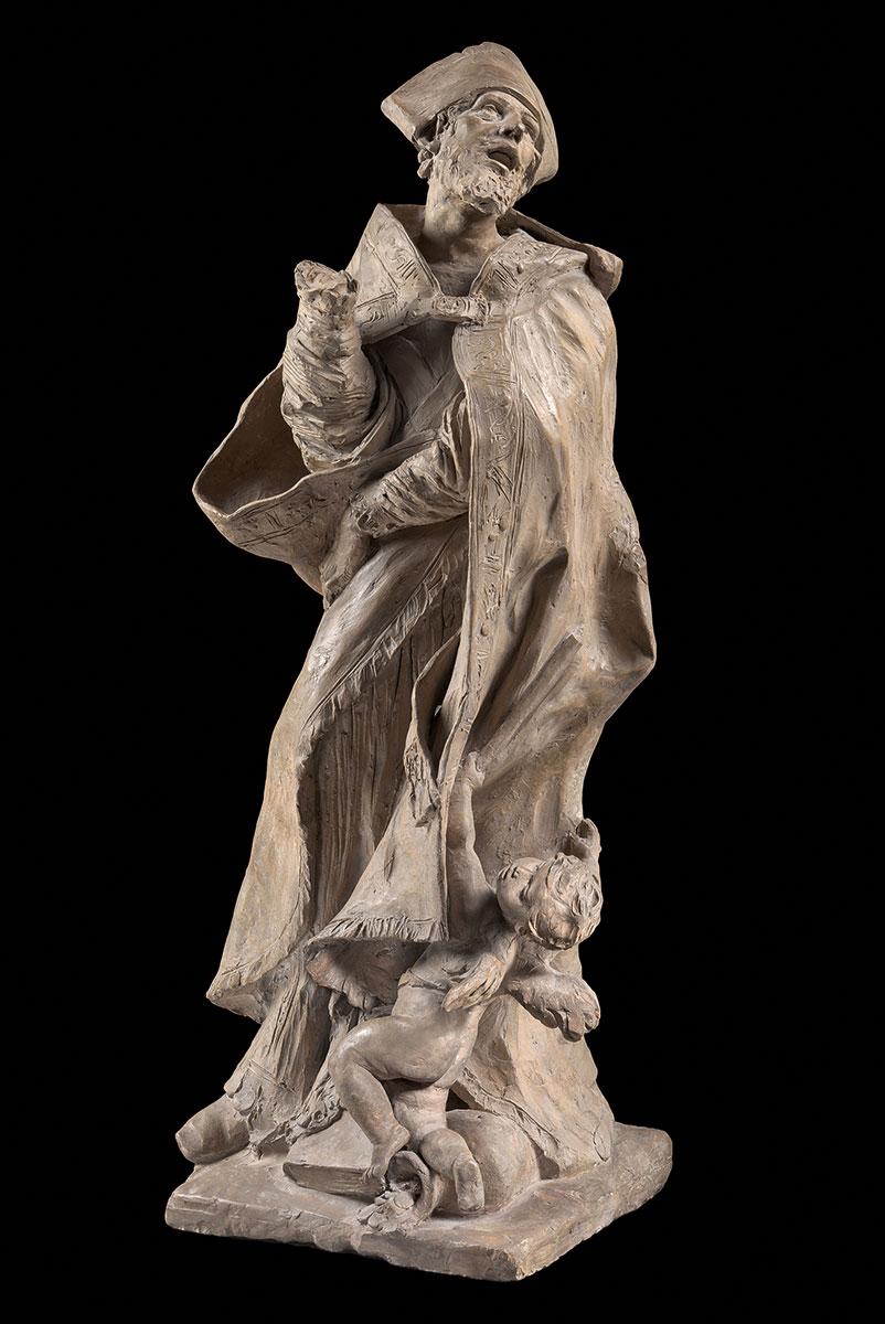 Pierre Puget, Bozzetto für seine Kolossalstatue des Heiligen Alessandro Sauli, 1663/64, Höhe 66 cm; Bode-Museum, Staatliche Museen zu Berlin