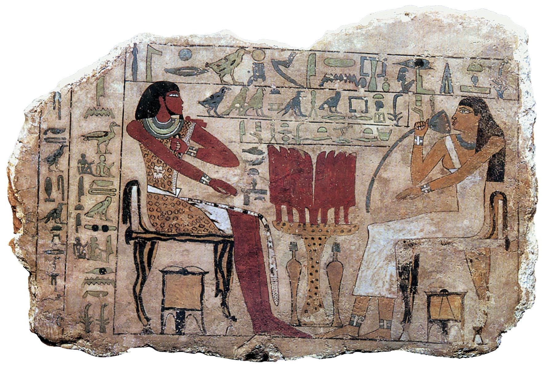 Grabstele des Nemti-ui, Ägypten, wohl aus Achmim, 1. Zwischenzeit um 2100 v. Chr., 40,5 × 58 × 5,4 cm; Roemer- und Pelizaeus-Museum, Hildesheim