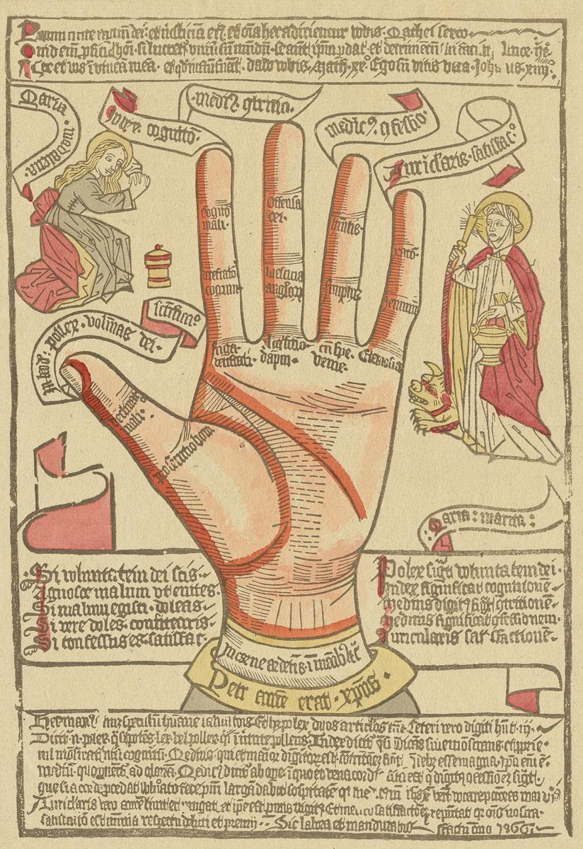 Speculum humanae salvationis als Hand, Einblattdruck, 1466