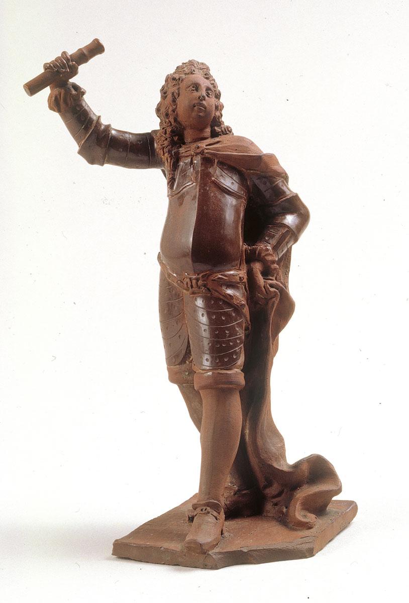 Statuette eines Feldherrn, um 1712, H: 16 cm