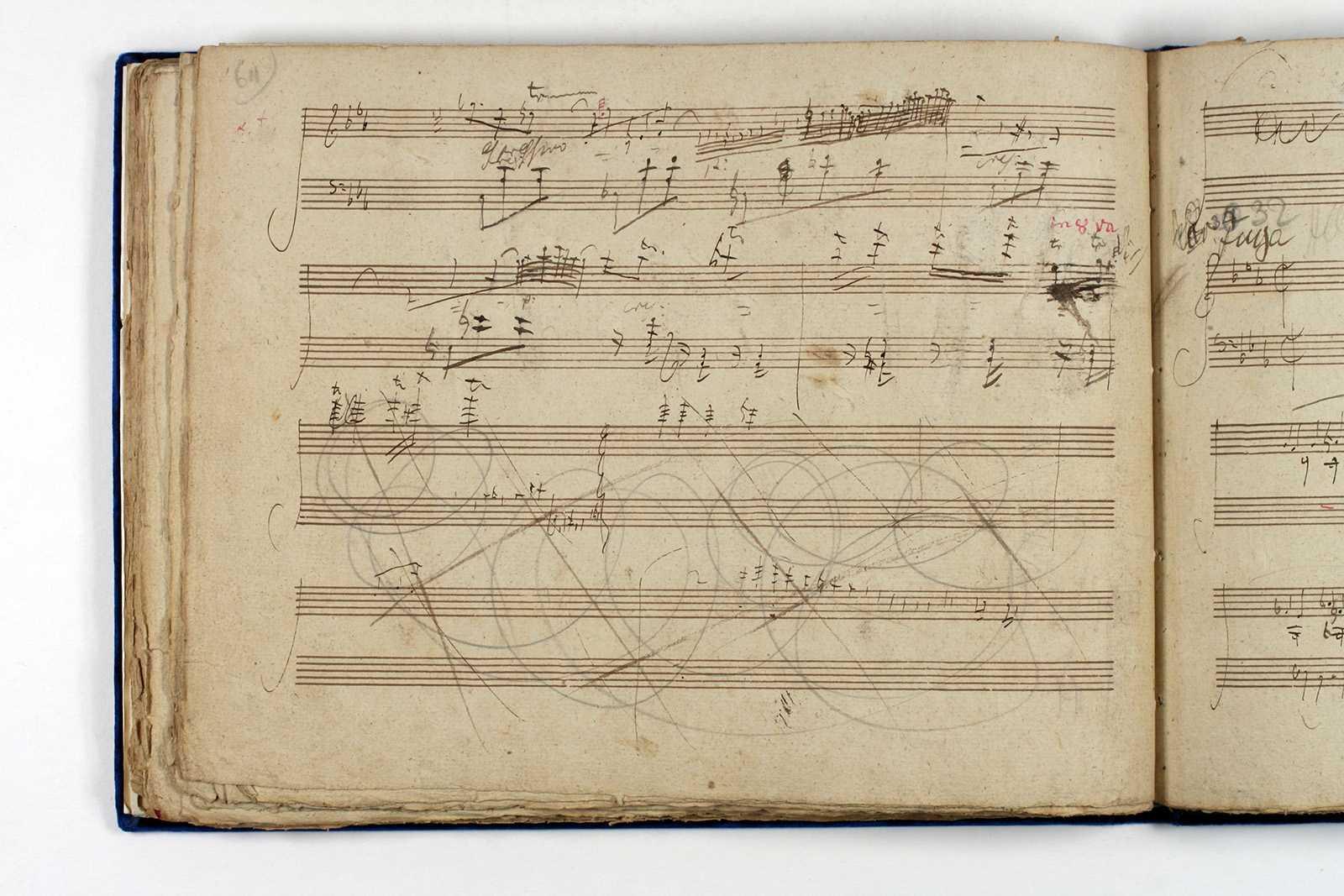 Beethovens Handschrift der Diabelli-Variationen: Blatt der 31. Variation