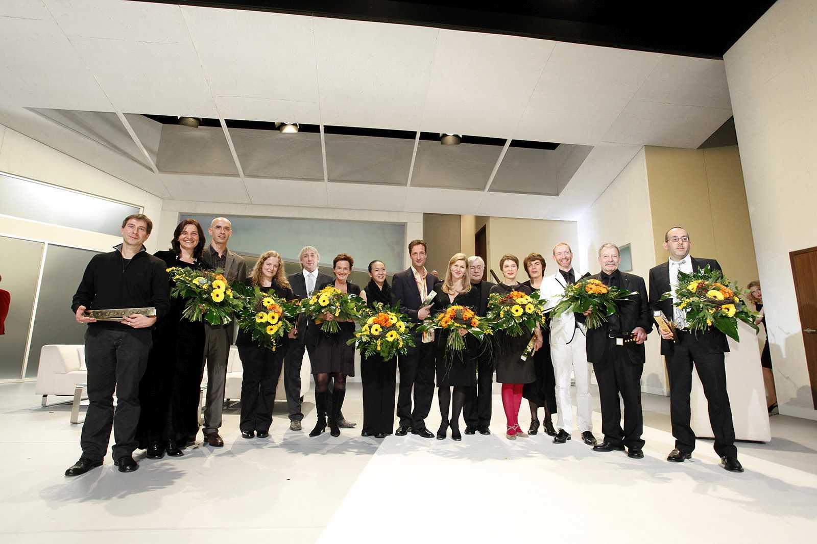 Die Preisträger 2009 des Deutschen Theaterpreises DER FAUST auf der Bühne des Staatstheaters Mainz