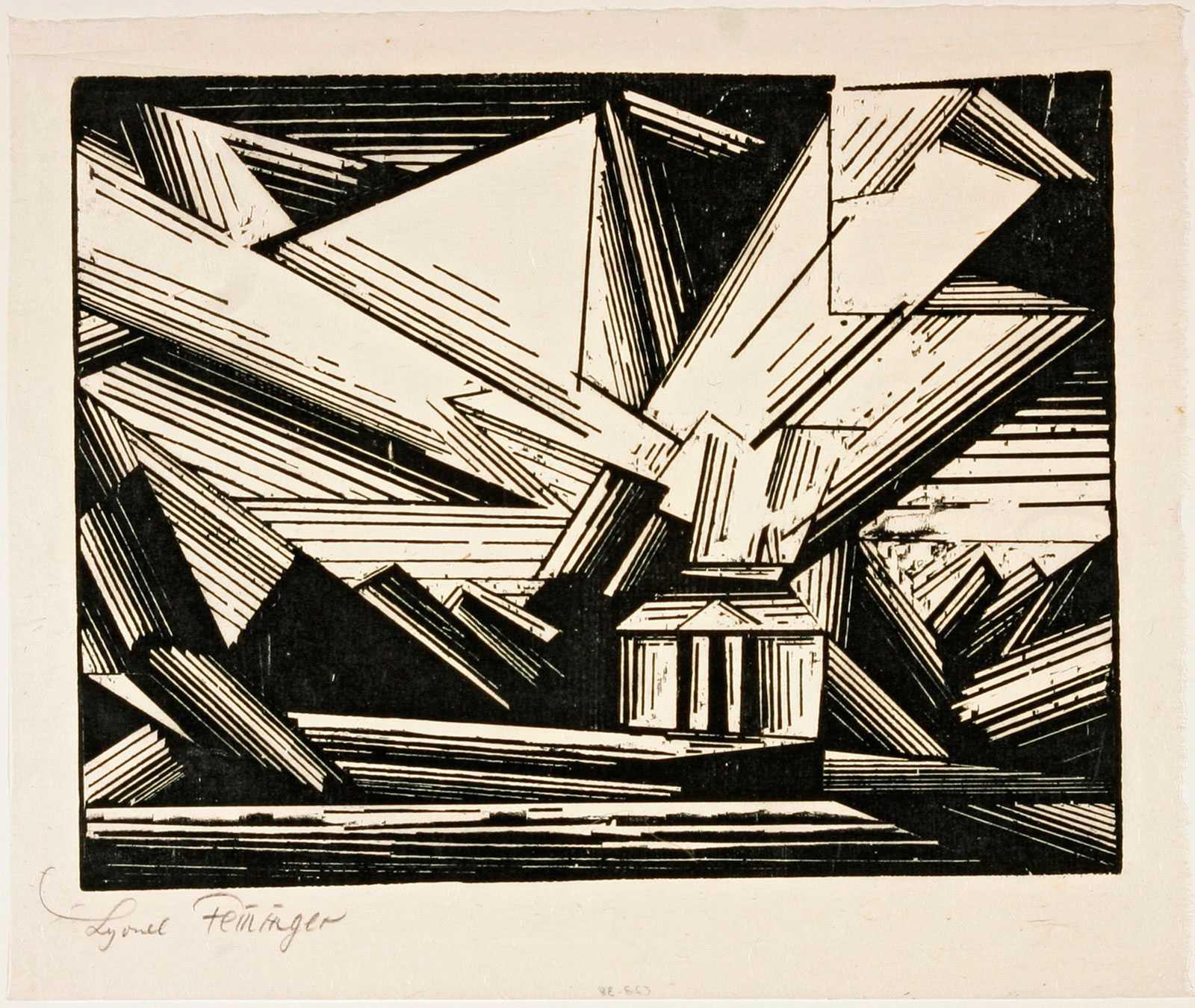 Lyonel Feininger, Villa am Strande, 4, 1920