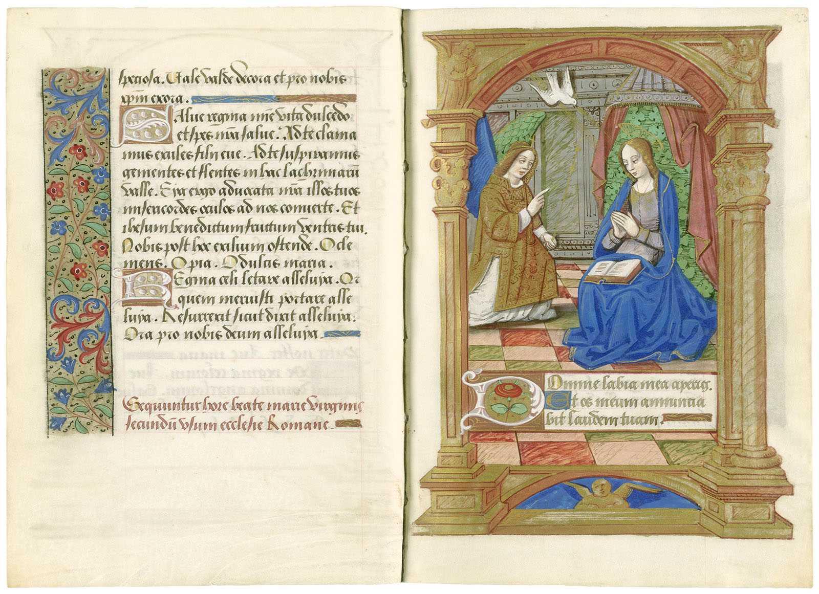 """Verkündigung an Maria"" aus dem Gothaer Stundenbuch, um 1500"