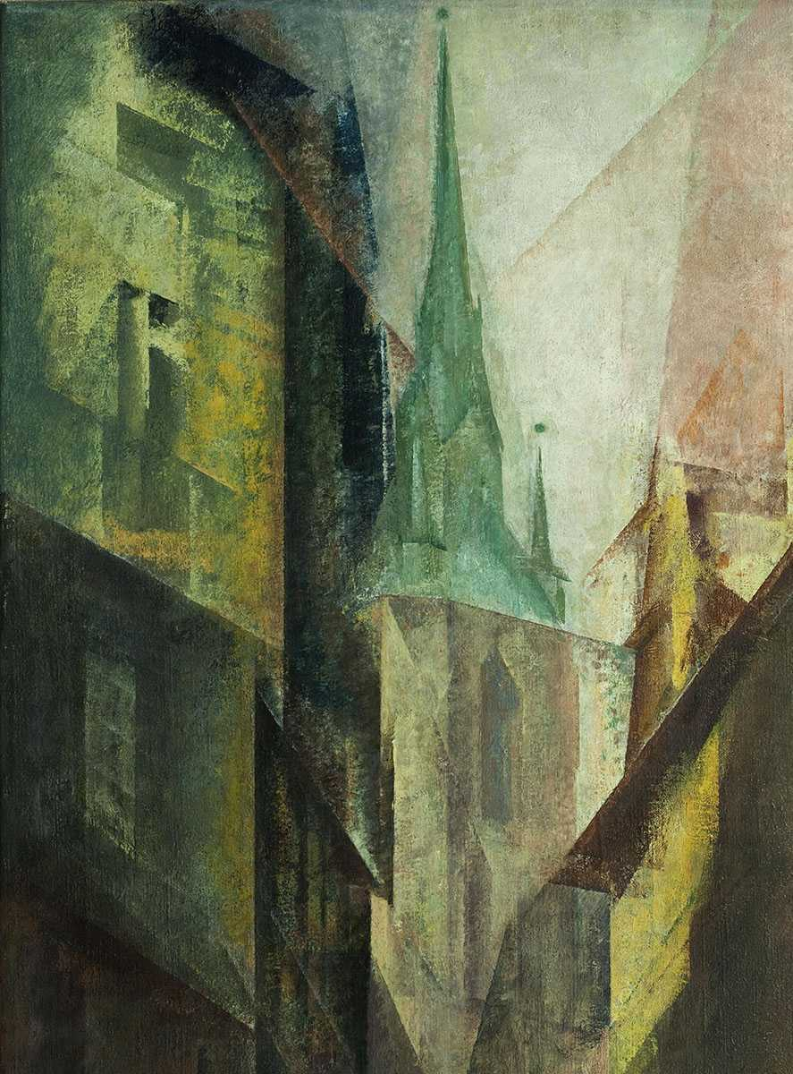 Lyonel Feininger, Roter Turm I, 1930