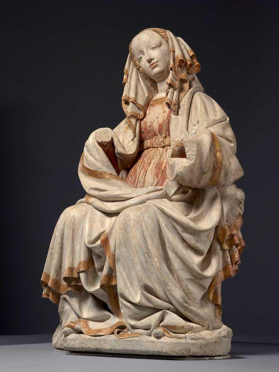 Die Thronende Muttergottes im Berliner Bode-Museum, entstanden um 1400