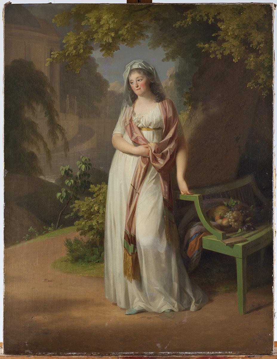 Johann Friedrich August Tischbein, Bildnis der Louise von Anhalt, 1797, 94 x 72 cm; Kulturstiftung Dessau-Wörlitz