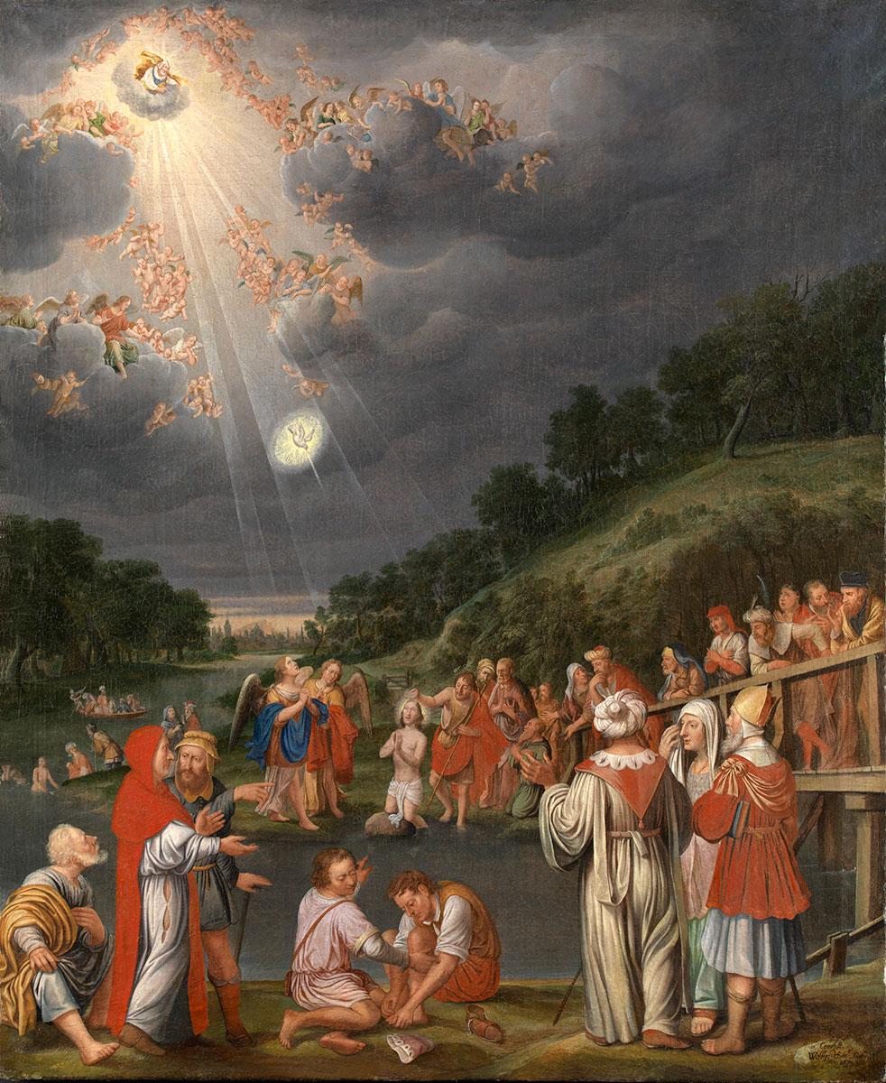 Wolfgang Heimbach, Die Taufe Christi im Jordan, 1670er Jahre, 115 x 93,5 cm; Stadtmuseum Coesfeld, © Stadtmuseum Coesfeld / Foto: Galerie Neuse, Bremen