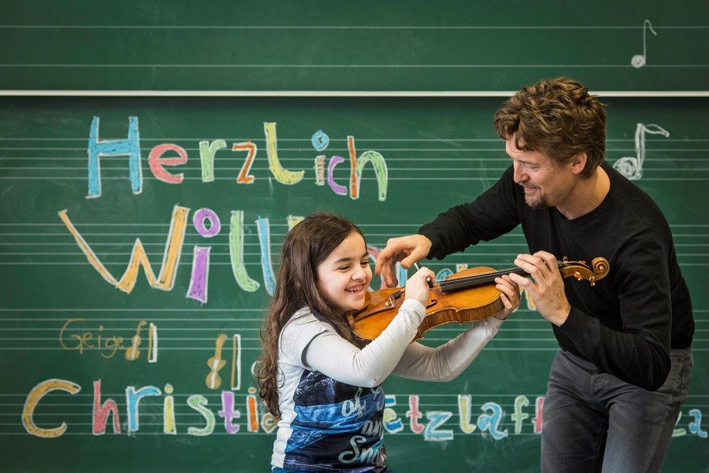 Rhapsody in School, Unterrichtsbesuch Christian Tetzlaff 2015