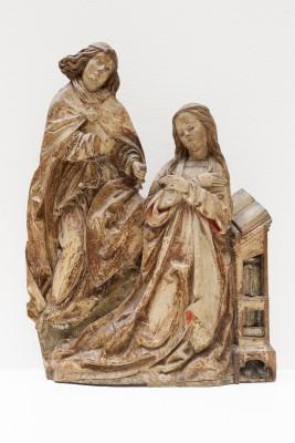 Daniel Mauch (1477-1540): Hochrelief mit der Verkündigung an Maria, um 1510/15, Ulm, Holz, Reste farbiger Fassung, 92 x 103 x 13,5 cm © Ulmer Museum, Foto: Oleg Kuchar, Ulm