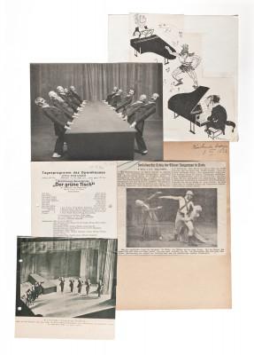 """Materialien und Dokumente zum Ballett """"Der Grüne Tisch"""" aus der Stockholmer Kurt Jooss-Sammlung (© Deutsches Tanzarchiv Köln)"""