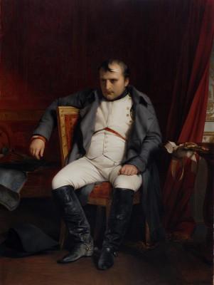 Paul Delaroche, Napoleon I. zu Fontainbleau am 31. März 1814 nach Empfang der Nachricht vom Einzug der Verbündeten in Paris, 1845; Museum der bildenden Künste Leipzig