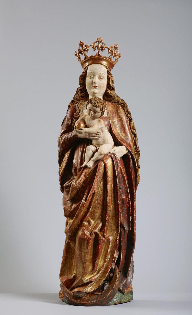 Spätgotische Madonna aus der Oberlausitz, 16. Jahrhundert