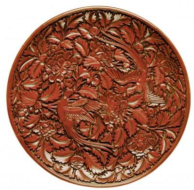 Rundes Tablett, Ming-Dynastie, um 1400