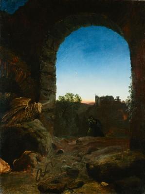 Carl Blechen, Romantische Landschaft mit Ruine, um 1825, LWL-Landesmuseum für Kunst und Kulturgeschichte, Münster