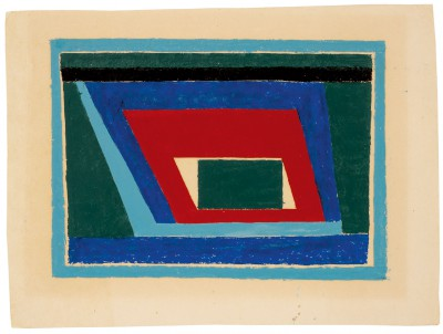 Josef Albers, Untitled Abstraction (Mantic), ca. 1940