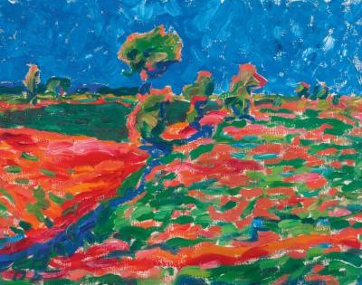 Erich Heckel, Mittag in der Marsch (Dangast), 1907 – mit Hilfe der Kulturstiftung der Länder 2007 vom Landesmuseum für Kunst und Kulturgeschichte Oldenburg erworben