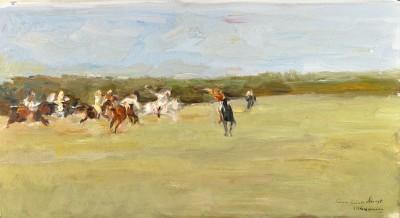 Max Liebermann, Polospieler im Jenischpark, 1907
