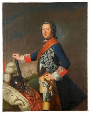 David Matthieu, Friedrich II. von Preußen, 1743, 145 × 113 cm