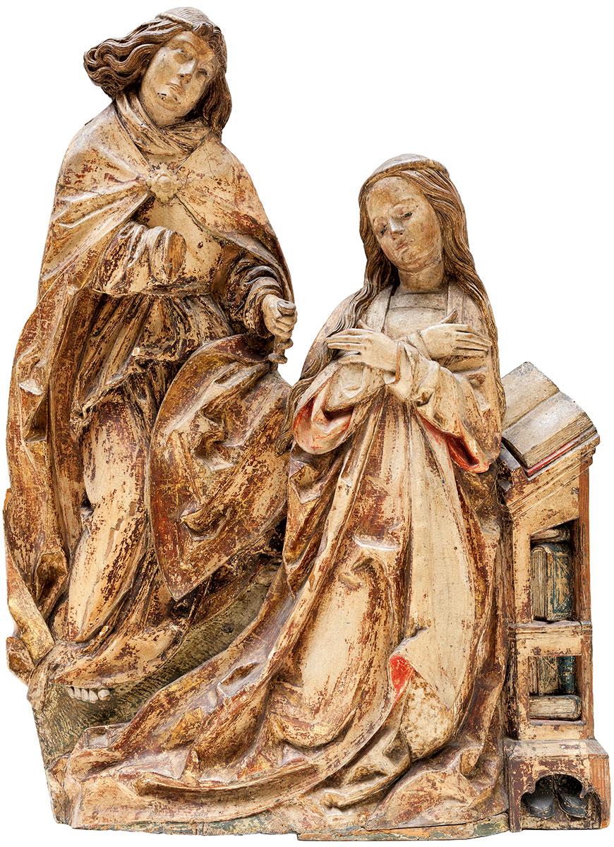 Daniel Mauch, Verkündigung an Maria, um 1510/15, 92×103×13,5 cm; Ulmer Museum