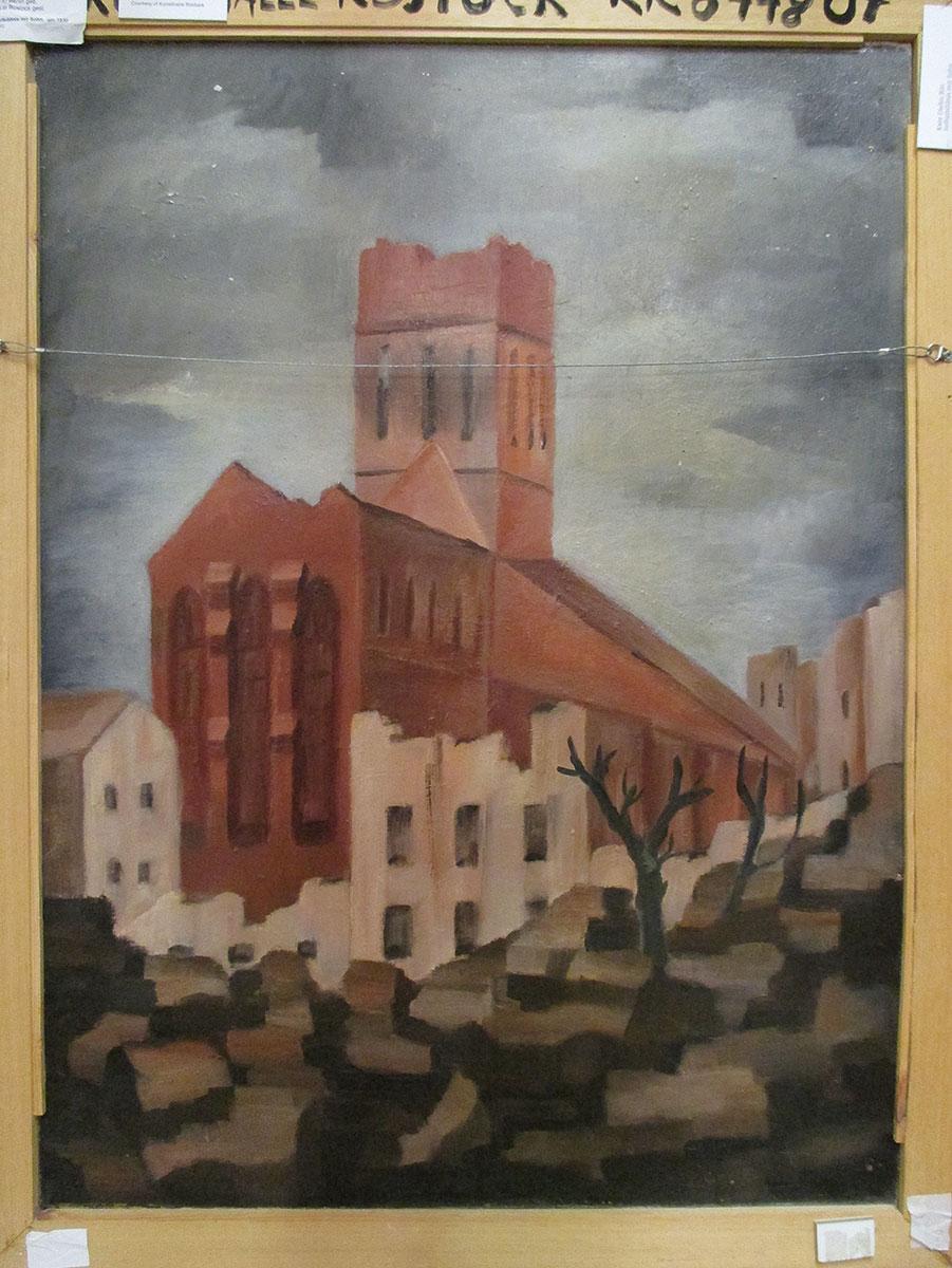 Kate Diehn-Bitt, Kirchenruine in Rostock, nach 1942, 99×74 cm; Kunsthalle Rostock