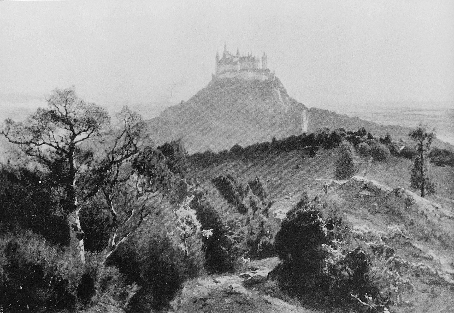 "Carl Ludwig, Hohenzollern. Frühlingsmorgen, o.J., 1897 erworben auf der ""Grossen Berliner Kunst-Ausstellung"