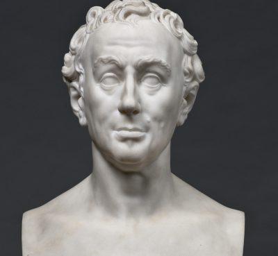 Salvatore de Carlis, Büste von Johann Joachim Winckelmann, Marmor, 1808, Höhe: 68cm, Staatliche Antikensammlungen und Glyptothek München Inv. Gl DV 112