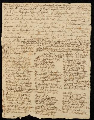 """Briefentwurf Joseph von Eichendorffs an Achim von Arnim, weiterhin Verse der Romanze """"Die wunderliche Prinzessin"""