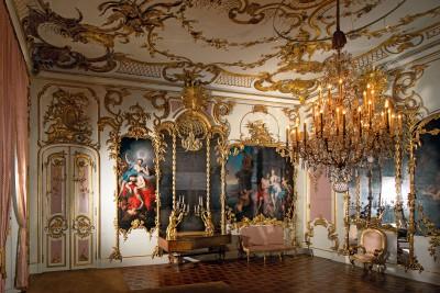 Potsdam, Neues Palais im Park Sanssouci, Unteres Konzertzimmer, Aufnahme von 2016 © Stiftung Preußische Schlösser und Gärten Berlin-Brandenburg / Foto: Leo Seidel