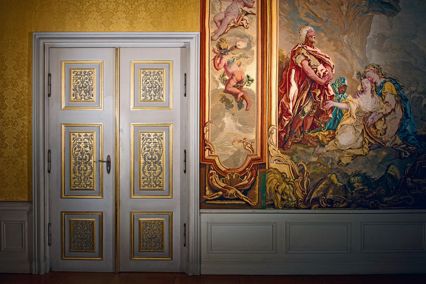 Berlin, Schloss Charlottenburg, Grüne Vorkammer, Aufnahme von 2016 © Stiftung Preußische Schlösser und Gärten Berlin-Brandenburg / Foto: Leo Seidel