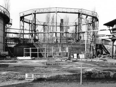 Manfred Hamm, Fragment des Gasbehälters II im ehemaligen Gaswerk Potsdam, 1995; Potsdam Museum – Forum für Kunst und Geschichte