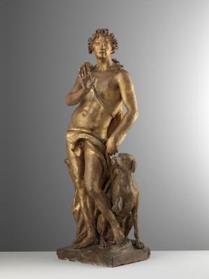 Pierre Étienne Monnot, Paris, zwischen 1692 und 1714 in Rom entstanden, vergoldete Terrakotta, Höhe 63 cm, Hessisches Landesmuseum Kassel © Trinity Fine Art LTD, Foto: Andrea Bacchi
