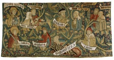 Bildteppich mit der Darstellung der Heiligen Sippe, 61 x 118 cm, 1527; Domschatz- und Diözesanmuseum Eichstätt © Kunsthandlung Rudigier
