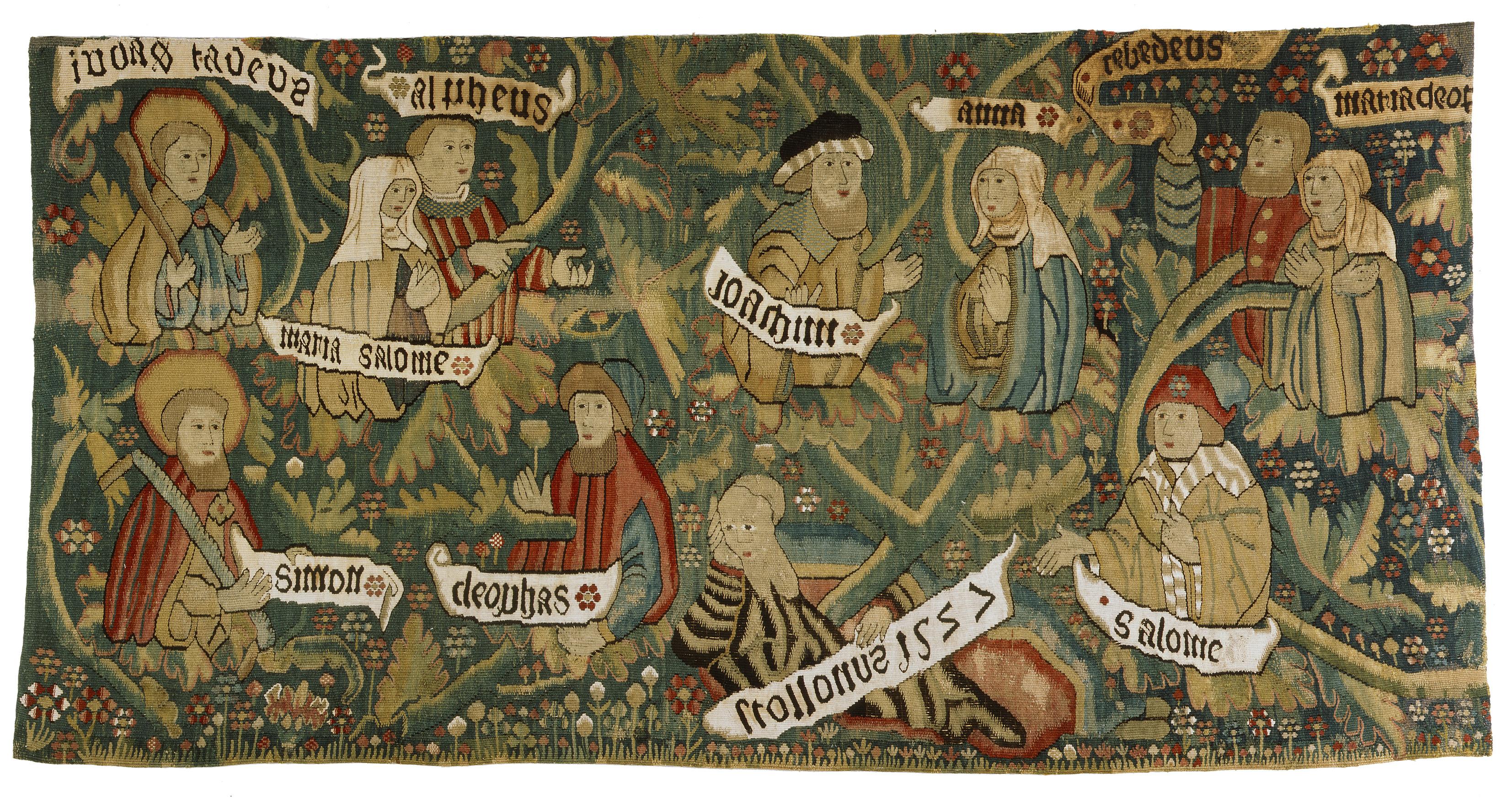 Bildteppich mit der Darstellung der Heiligen Sippe, 61 x 118 cm, 1527, Domschatz- und Diözesanmuseum Eichstätt © Kunsthandlung Rudigier