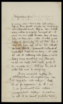 Jacob Grimm an die Dieterich'sche Buchhandlung (Vorderseite), Berlin, 18.5.1852; Grimm-Sammlung der Stadt Kassel © Universitätsbibliothek Kassel