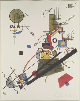 Wassily Kandinsky, Fröhlicher Aufstieg, aus der Meistermappe des Staatlichen Bauhauses 1923 © Klassik Stiftung Weimar