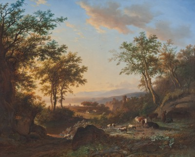 Willem Bodeman, Italianisierende Landschaft, nach 1844, 87 x 107,8 cm; © Foto: collectie Ursula und Jef Rademakers