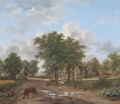 Jacobus Theodorus Abels und Petrus Gerardus van Os, Bauernhof, 1832, 78 x 89,6 cm; © Foto: collectie Ursula und Jef Rademakers