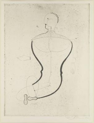 Oskar Schlemmer, Abstrakte Figur nach links, aus der Meistermappe des Staatlichen Bauhauses 1923 © Klassik Stiftung Weimar