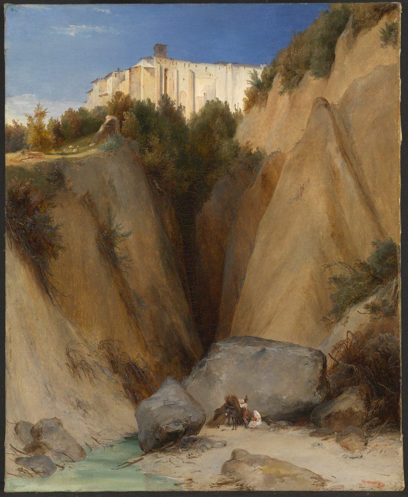 Carl Blechen, Blick auf das Kloster Santa Scolastica bei Subiaco, 1832