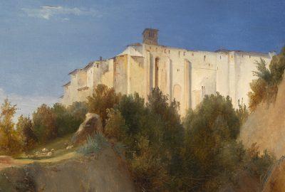 Ausschnitt Carl Blechen, Blick auf das Kloster Santa Scolastica bei Subiaco, 1832