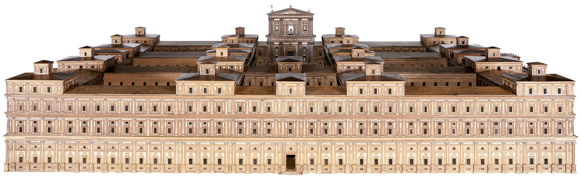 """Architekturmodell """"Templum Salomonis"""", um 1685, 64×345×344 cm; Museum für Hamburgische Geschichte. Die Restaurierung wird von der Kulturstiftung der Länder gefördert © SHMH / Foto: Elke Schneider"""