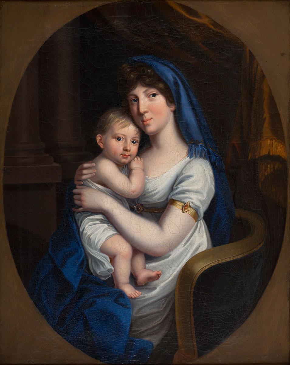 Johann Heinrich Schröder (?), Porträt Marie von Baden mit Kind, 1804, 68×56,5 cm; Diakonische Galerie des Marienstifts, Braunschweig © Ev.-luth. Diakonissenanstalt Marienstift in Braunschweig / Foto: Peter Sierigk