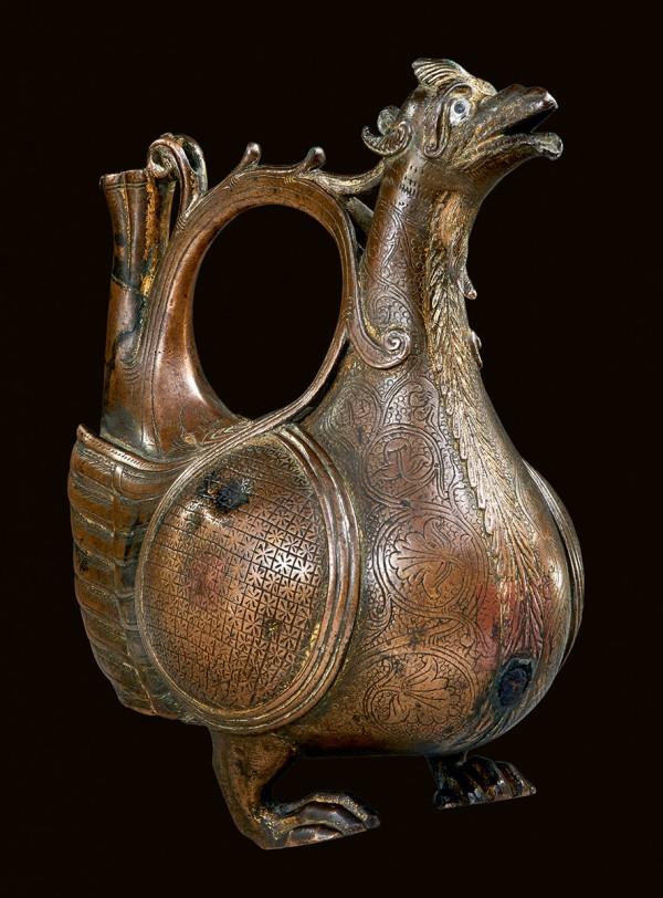 Drachenaquamanile, 2. Viertel 12. Jahrhundert, 19,6×16,5 cm; Dommuseum Hildesheim © Dommuseum Hildesheim / Foto: Ansgar Hoffmann