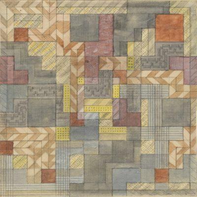 Benita Koch-Otte, Teppichentwurf für das Direktorenzimmer von Walter Gropius, 1923; Bauhaus-Archiv Berlin © Stiftung Bethel, Bielefeld