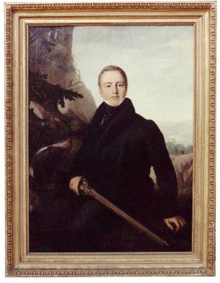 Wilhelm Sattler, Porträt Graf Alban von Schönburg als Jäger, 1827; Foto: Stadt Glauchau