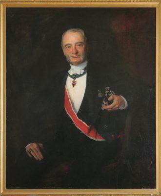 László von Lombos, Porträt Graf Bohuslaw Chotek; Foto: Stadt Glauchau