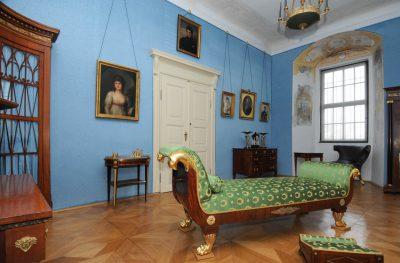 Récamière im Klassizismus-Zimmer, Museum und Kunstsammlung Glauchau; Foto: Stadt Glauchau