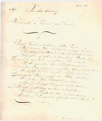 Heinrich Heine, Autograph des Sonettenkranzes an Friederike Robert, geb. Braun, 1824 @ Heinrich-Heine-Institut, Düsseldorf
