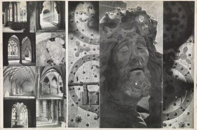 Josef Albers, Kloster Maulbronn (Deutschland), Details von Architektur, Malerei und Plastik, Papier, Montage auf Karton; © The Josef and Anni Albers Foundation
